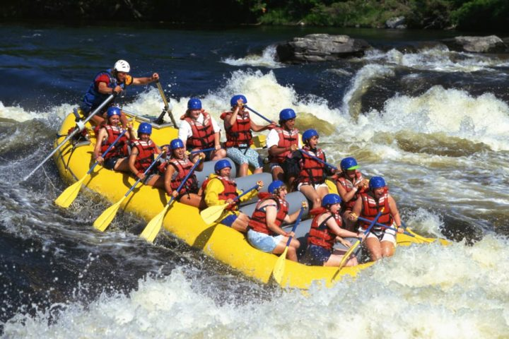 White water rafting on the Vaal River